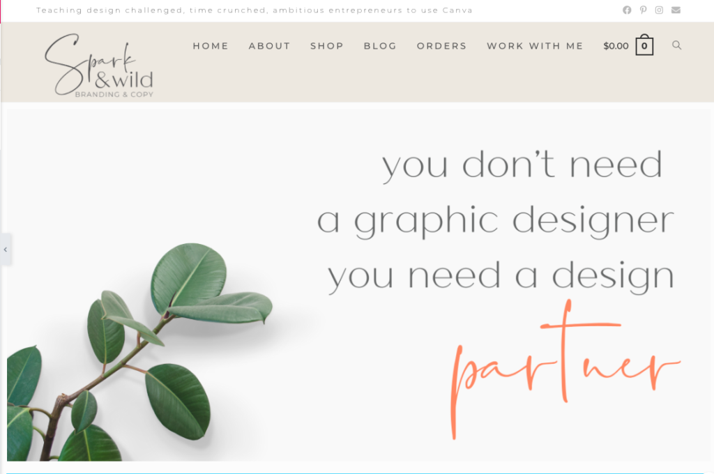 small business website design packages Spark and Wild