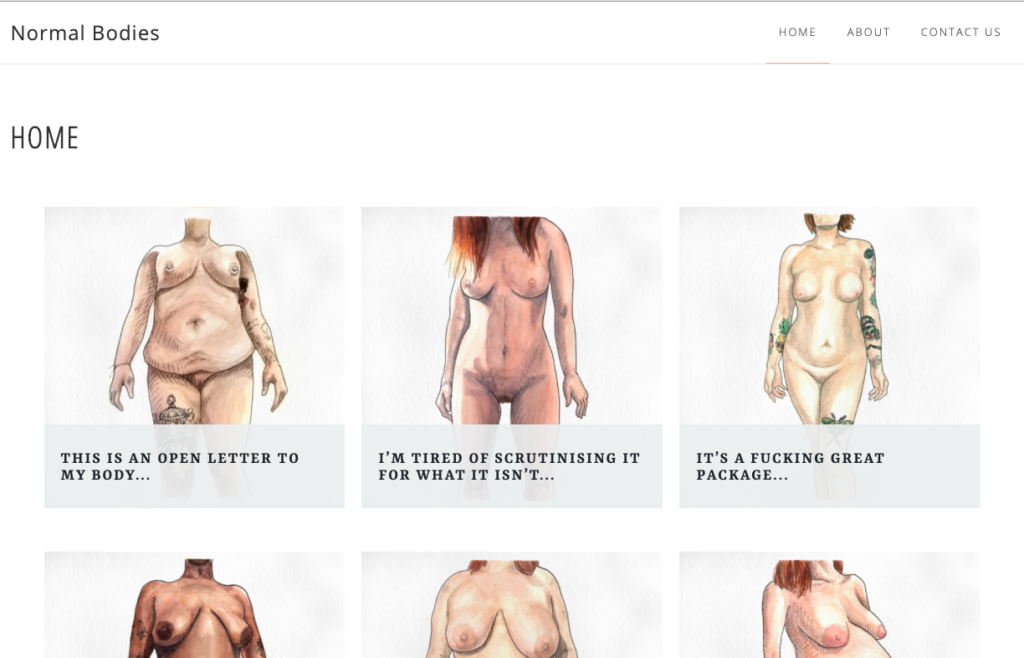 small business website design packages Normal Bodies