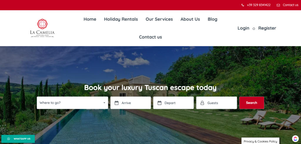 small business website design packages Luxury Homes Tuscany