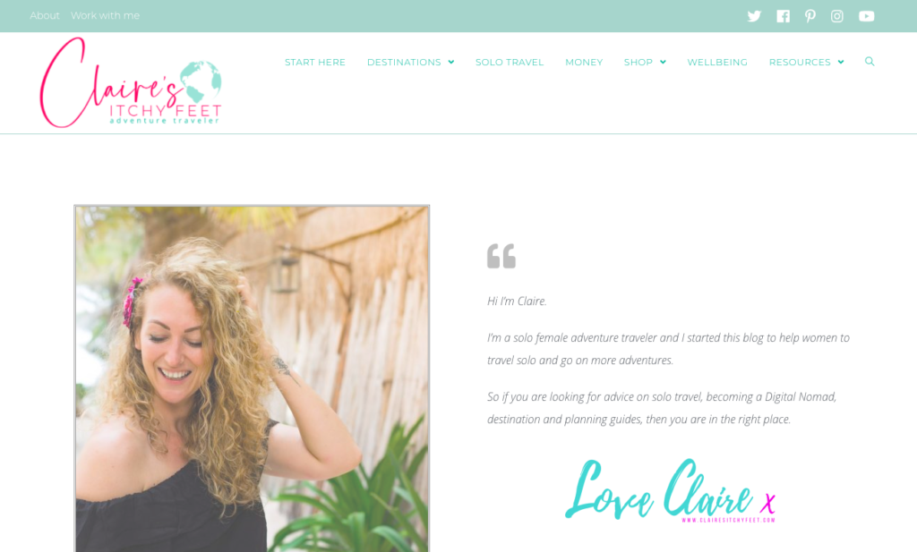 small business website design packages Claire's Itchy Feet