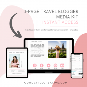 3 page Travel Blogger Media Kit